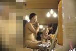 【盗撮動画】スーパー銭湯の女湯の洗い場にあるシャンプーの後ろに隠しカメラを仕掛けて、いたいけな素人美少女のむっちり裸体を隠し撮り!