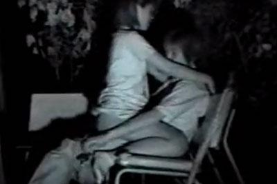 【盗撮動画】深夜の公園のベンチとかってセックスするために存在してるんでしょ?ていう素人カップルの騎乗位挿入をずっと隠し撮りしてましたww
