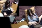 【盗撮動画】素人JKが自宅の部屋でマンガをオカズにオナニーしてるところを隠し撮り!スゲェ激しい手マンでイキまくってます!