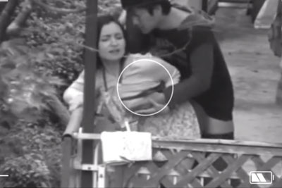 【盗撮動画】ズームカメラで盗撮されたリアル不倫ベランダセックスの一部始終。これでこの変態奥さん証拠抑えられ完全にアウトですよねww