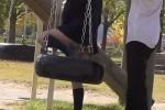 【盗撮動画】彼氏と公園のアスレチックで遊んでる美少女制服JKが無邪気に何度もカワイイ柄のパンチラしちゃってたんでずっと盗撮しましたw