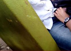 【盗撮動画】公園のベンチでカバンでチンコ隠しながら彼女に手コキしてもらってるの見つけちゃったから、結構近づいて盗撮してやりましたww【無修正】